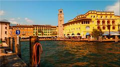 Riva del Garda on Lake Garda (Ostseetroll) Tags: geo:lat=4588411596 geo:lon=1083934296 geotagged ita italien lagodigarda rivadelgarda trentinoaltoadige gardasee lakegarda hafen port olympus em10markii