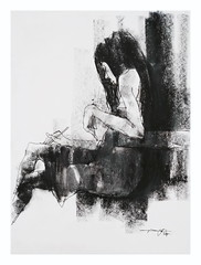 (Gasheh) Tags: art painting drawing sketch portrait figure girl line pen charcoal gasheh 2017