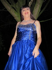 Sparkling lady (Paula Satijn) Tags: girl lady dress gown ballgown satin silk shiny skirt blue garden outside chic classy posh elegant happy smile joy fun peasure girly feminine sparkly beads sweet pretty cute night