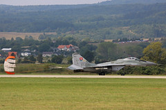 6526 Mikoyan-Gurevich Mig-29AS Slovakian Air Force with parachute  side on Sliac 01st September 2018 (michael_hibbins) Tags: 6526 mikoyangurevich mig29as slovakian air force with parachute sliac 01st september 2018 aeroplane aviation aerospace aircraft airplane aero airfields airport airports military defence strategic tactical fighter bomber multiengined multirole jet jets afterburner afterburners plane planes