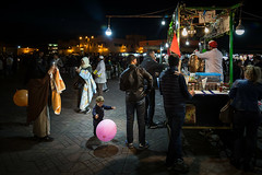 Marrakesh (Mathijs Buijs) Tags: night market stall marrakech marrakesh child balloon muslim northern africa canon eos 5d mark mk iii medina