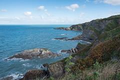 South West Coast Path - Ilfracombe to Combe Martin (Spannarama) Tags: coastpath southwestcoastpath blueskies sunshine clouds coast sea northdevon devon uk hills rocks