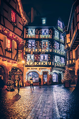 Christmas in Alsace (Ro Cafe) Tags: christmas colmar street urban night winter ornaments decoration lights france alsace nikkor2470f28 sonya7iii