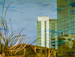 Peral Perspective. (Omygodtom) Tags: abstract art building reflection street town portland nikon70300mmvrlens d7100 weired odd weather usgs pond