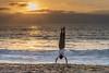 Beach Handstand (nhblevins) Tags: gymnastics california sand ocean sunset handstand sky boy beach