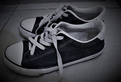 Shoes (Praveen Banneka) Tags: shoe lace blach white old photograph
