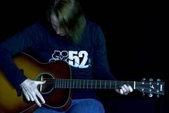 Guitar Lessons (Beangrau12) Tags: dogwood2019 week1 storytellingselfportrait guitar myself strumming playingguitar yamaha nikon3200 nikkor85mmlens music