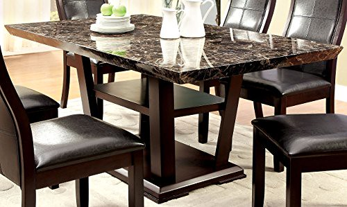 Cheap Furniture of America Alfaro Modern Faux Marble-Top Dining Table