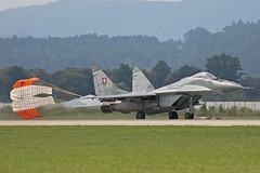 6526 Mikoyan-Gurevich Mig-29AS Slovakian Air Force with parachute Sliac 01st September 2018 (michael_hibbins) Tags: 6526 mikoyangurevich mig29as slovakian air force with parachute sliac 01st september 2018 aeroplane aviation aerospace aircraft airplane aero airfields airport airports military defence strategic tactical fighter bomber multiengined multirole jet jets afterburner afterburners plane planes