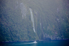 Sterling Falls (tourtrophy) Tags: sterlingfalls waterfalls milfordsound newzealand downunder board ship canoneos5dmark3 canonef100400mmf4556lisiiusm