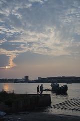 Tainan, Taiwan (mattis.se) Tags: taiwan tainan sea sunset boat sinking people outdoors clouds water