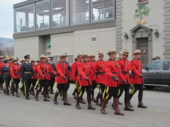 Marching Mounties (jamica1) Tags: rcmp grc mounties royal canadian mounted police remembrance day parade marching kelowna okanagan bc british columbia canada
