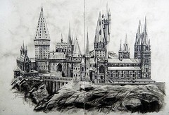 HOGWARTS (Sketchbook0918) Tags: building fiction fictional themeparks book novel place