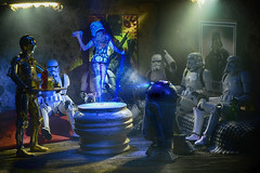 Saturday night (vicari8) Tags: star wars photography miniatures action figure toy art andrea vicariotto stormtrooper love bandai saturday night beer model r2d2 c3po
