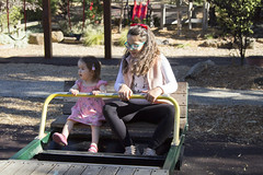 bouncing with Gemma (louisa_catlover) Tags: tabbys2ndbirthday birthdayparty park playground outdoor january 2019 2yearsold