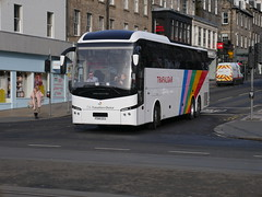Shaw (The Traveller's Choice) of Carnforth Volvo B11RT Jonckheere JHV2 PO18EES at Frederick Street, Edinburgh, on 4 March 2019. (Robin Dickson 1) Tags: shawofcarnforth edinburghbuses thetravellerschoice po18ees volvob11rt jonckheerejhv2 trafalgartours