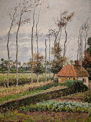"""Landscape at Varengeville, Gray Weather"" (1899), Camille Pissarro (Joey Hinton) Tags: phoenix art museum pixel2 google android smartphone cellphone cameraphone phone arizona"