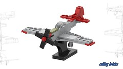 North American P-51D Mustang (Rolling bricks) Tags: lego wwii worldwar fighter north american p51d mustang airforce usairforce ww2 microscale us airplane aircraft militaryaircraft army usarmy aviation militaryaviation military redtails red tails