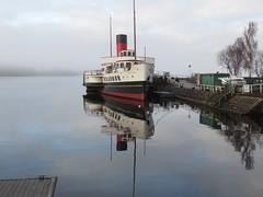 Maid reflections. (aitch tee) Tags: touristview touristattraction ship boat paddlesteamer reflections scotland lochlomond historicship themaidoftheloch