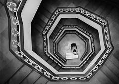 Fibonacci (Mohammad Dadsetan) Tags: architecture monochrome perspective bnw light shadows man portrait highangle street human minimal