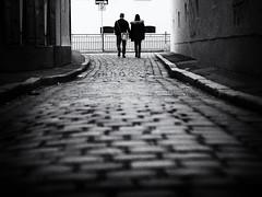 side by side (Sandy...J) Tags: atmosphere streetphotography silhouette noir urban people blackwhite monochrom