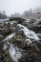 ashness bridge in the snow (akh1981) Tags: snow walking wideangle water winter river beautiful benro nisi nature nationalpark nikon nisifilters nationalheritage nationaltrust nationalheritagesite morning landscape lakedistrict rocks uk unesco cumbria outdoors ice countryside travel trees tranquil