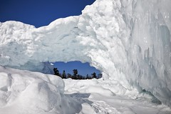 lake superior ice arch (twurdemann) Tags: algoma arch canada cold fastice frozen fujixt1 highway17 ice icearch icebridge icicles lakesuperior lakesuperioricecaves landscape northernontario ontario sawpitbay scenic seascape spring transcanadahighway water winter xf1855mm