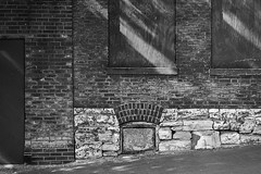 Wall And Windows (Modkuse) Tags: lacledeslanding laclede'slanding wall windows building doors brick brickwall nikon nikonn90s monochrome bw blackandwhite slr nikonslr art artphotography photoart fineartphotography fineart
