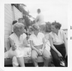 Aunt Shirley family photos (jericl cat) Tags: june 1958 gay lesbian homosexual history vintage photo candid men women party cocktail drink drinking aunt shirley butch dyke wisconsin wi lake dock