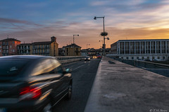 Sunset in Lodi, Italy (TMStorari) Tags: lodi italy italia italien italie ponte bridge sunset tramonto sun sonne sonnenuntergang sky skies cielo himmel light car shadows movement cars auto road way driving traffic evening abend abendslicht brücke adda fiume river fiumeadda lombardia