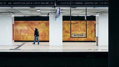Goodbye Altona (Guido Klumpe) Tags: altona hamburg ubahn subway night nightshot nacht nachtaufnahme longexposure minimal minimalism minimalistisch simple reduced color farbe gebäude architecture architektur building perspektive perspective candid street streetphotographer streetphotography strase hannover hanover germany deutschland city stadt streetphotographde unposed streetshot