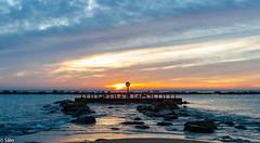 Prohibido pasar (salo75) Tags: agua mediterraneo cielo nikon d700 amanecer clouds beach landscape catalunya mar playa provinciadebarcelona españa es