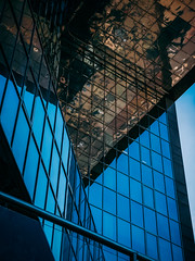 Angles (Мaistora) Tags: building architecture reflection abstract mirror shape geometry graphic design office bridge londonbridge onelondonbridge angle pov perspective london england britain uk leica dlux typ109 lightroom glass windos facade color colour blue brown green orange
