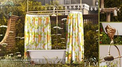 Jessa Clawfoot Bathtub for Bloom (Ella Spacejam) Tags: bloom prism events event sl second secondlife decor bathroom bathtub washroom powder room interior design elm antique claw foot clawfoot tub bath shower spring curtain wash