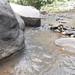 River and big rock