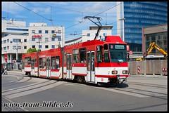 146-2015-06-02-2-Stadthalle (steffenhege) Tags: cottbus tram tramway strasenbahn streetcar tatra ckd ktnf6 146