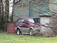 Abandoned Cars. (Andrew 2.8i) Tags: wales uk carspotting spotted spotting street car cars streetspotting united kingdom abandoned rusty unloved neglected suv offroad southkorean musso ssangyong