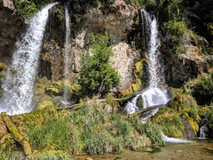 Waterfall - Rifle Falls, Colorado (BeerAndLoathing) Tags: pixelxl waterfall usa googlepixel roadtrip riflefalls summer pallisadetrip colorado august trip 2018 android cellphone pixel google rifle unitedstatesofamerica us