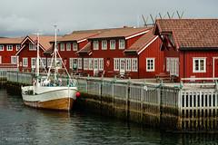 Rorbus at Svolvaer (Norway) (christian.rey) Tags: svolvær nordland norvège no lofoten islands îles rorbu bateau pêcheurs pêche port sony alpha a7r2 a7rii 24105