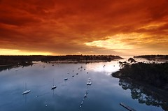 Benodet harbor and Odet river (hbensliman.free.fr) Tags: travel landscape brittany coast ocean france sea nature sunset sunrise river pentaxart