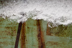 A Dusting of Snow (Doris Burfind) Tags: rust junk abstract wolflane winter snow metal truck