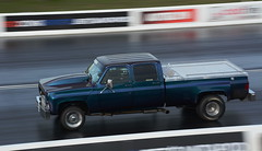 Chevy truck_3943 (Fast an' Bulbous) Tags: chevy chevrolet pickup truck fast speed power acceleration drag strip race track outdoor nikon panning santa pod motorsport american