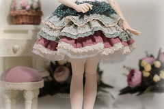 Gentle Flowers adorable spring dress (Sewing Fairy) Tags: handmade doll dress clothes msd minifee bjd fairyland flowers lace sewing