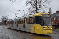 Manchester Metrolink 3094 (Mike McNiven) Tags: manchester metrolink tram metro lightrail lrv chorlton hardylane manchesterairport airport victoria marketstreet