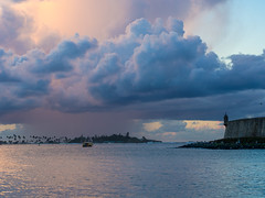 Sailing into the Storm (Keith - Glasgow) Tags: sea usa urban caribbean sunset travel shore sanjuan oldsanjuan city puertorico landscapes unitedstates americas clouds