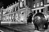 Frankfurt, Stock Exchange (rgiw) Tags: deutschland city street blackwhite bw schwarzweiss sw colour farbe stadt monochrome skyscraper wolkenkratzer strasse building gebäude ricohgrii hessen frankfurt blackandwhite bauwerk architektur architecture