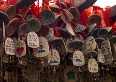 Wood Souvenirs, Lijiang, China (Eric Lafforgue) Tags: a0007660 asia china chinesescript colorpicture dayantown horizontal nopeople tourism unescoworldheritagesite yunnan yunnanprovince lijiang