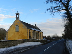 Kilmorack Art Gallery, near Beauly, Jan 2019 (allanmaciver) Tags: kilmorack gallery church 1786 beauly trees snow winter road bell colour january allanmaciver
