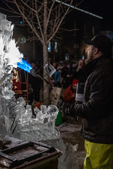 Ice Cravers (mns_mike) Tags: color goshen indiana fire ice winter firstfriday a7iii sony night