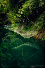 Fishing Nets (Darkelf Photography) Tags: xiling gorge threegorges yangtze river yichang asia china travel landscape culture history rainforest fishing nets reflections green foliage sunlight canon 24105mm 5div maciek gornisiewicz darkelf photography 2018